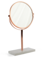 Copper Marble Base Mirror by Asda