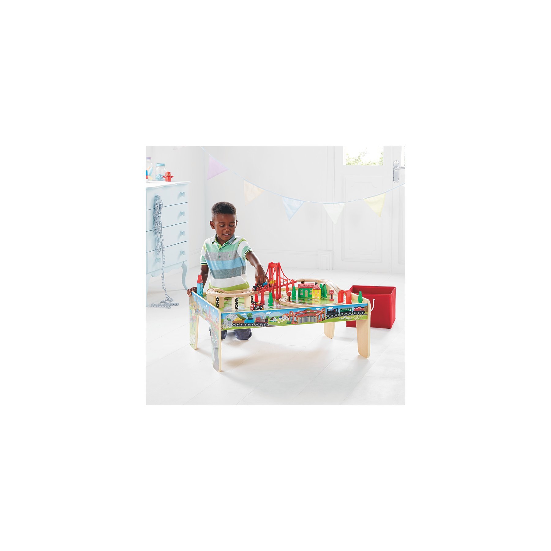Fine Wooden Train Set Table Machost Co Dining Chair Design Ideas Machostcouk