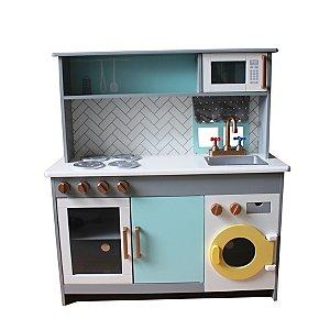 Wooden Kitchen and Washing Machine Set  1110ed54e6