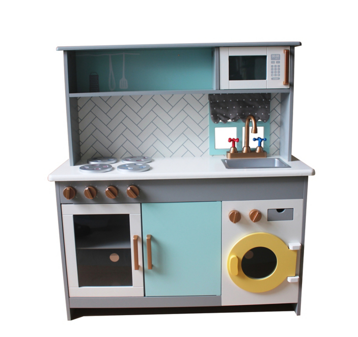 Wooden Kitchen And Washing Machine Set Toys Character George