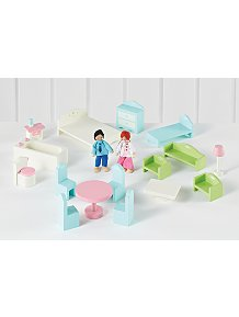 Wooden Dolls House Furniture Set
