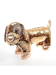 Kid Connection Gold Effect Swipe Sequin Dog Toy 499e64dd8f97