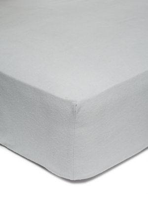 Grey Soft & Cosy Brushed Cotton Fitted Sheet