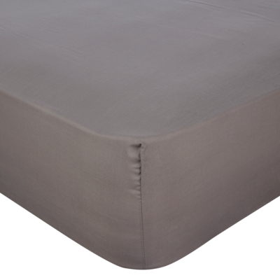 Grey Fitted Sheet - Super King