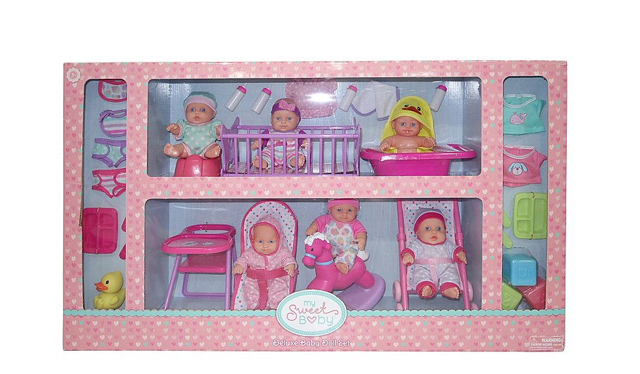 my sweet baby doll playset toys character george