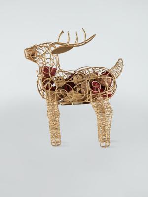 Bronze Wire Reindeer Potpourri
