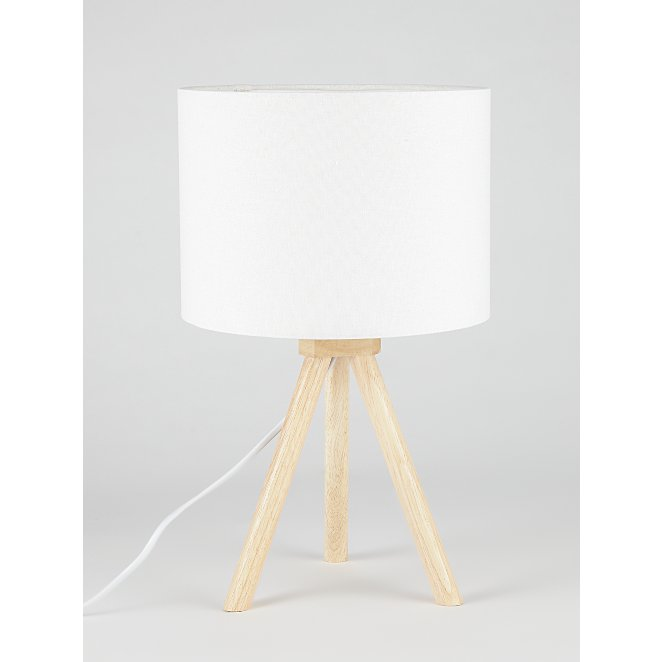 Brown Wooden Tripod Table Lamp