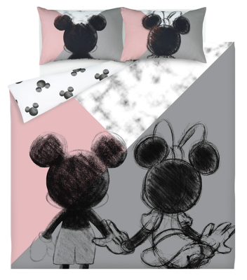 Disney Mickey and Minnie Mouse Easy Care Reversible Duvet Set