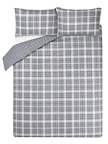 f53a3c5bfb1 Grey Check Easy Care Duvet Set