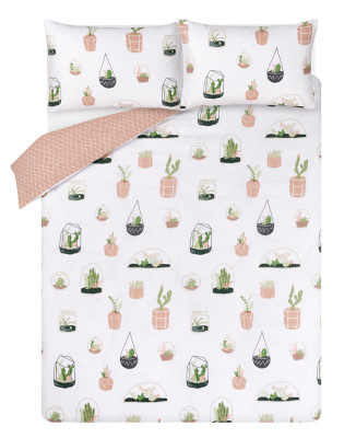 Terrarium Print Easy Care Duvet Set