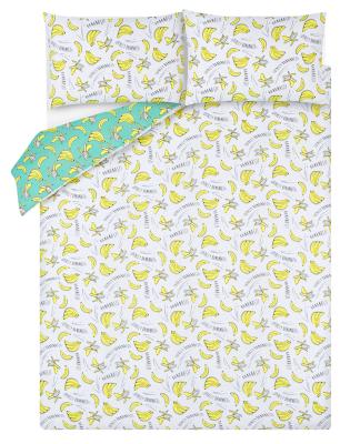Banana Print Easy Care Reversible Duvet Set