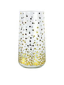 6290fd2ea340 Gold Effect Polka Dot Hi-ball Glasses Set of 2
