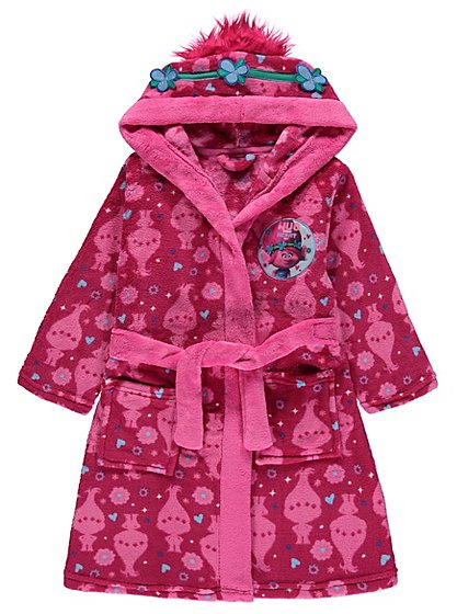 Trolls Hooded Dressing Gown   Kids   George at ASDA