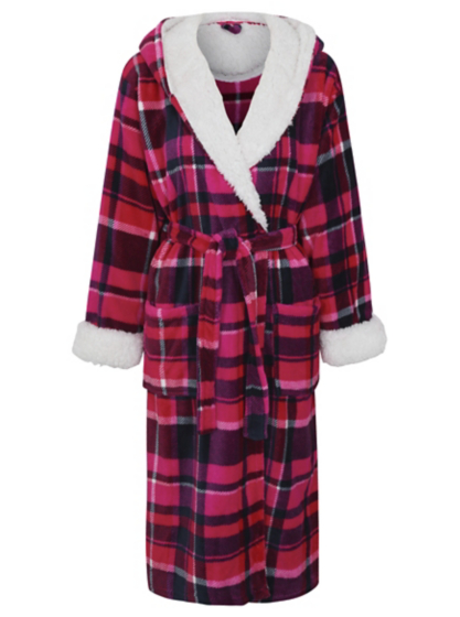 Check Print Dressing Gown | Women | George at ASDA