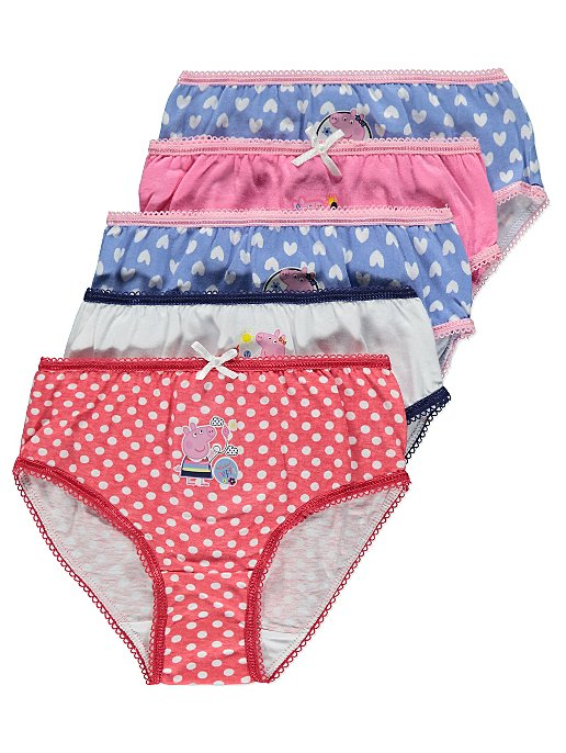 66feec30bb Peppa Pig 5 Pack Assorted Briefs. Reset. £2