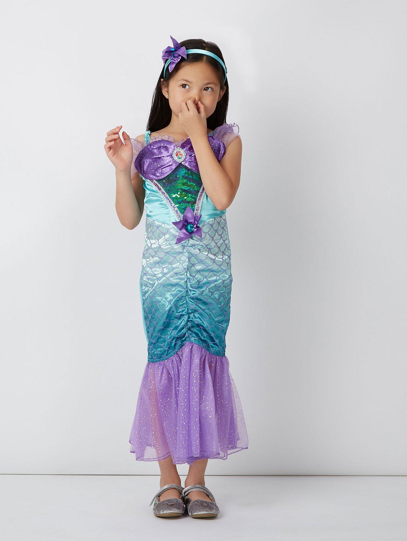 Disney Princess Ariel Little Mermaid Fancy Dress Costume | Kids ...