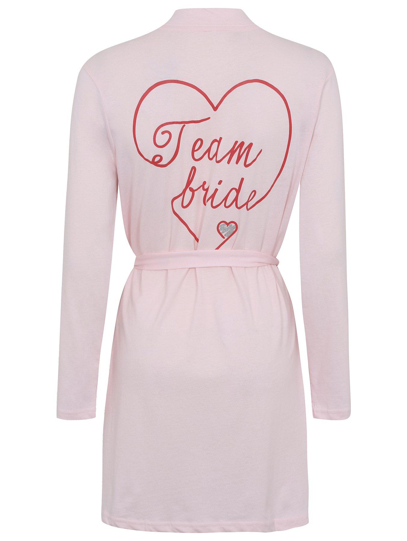 Pure Cotton Team Bride Dressing Gown Women George