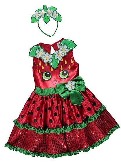 shopkins strawberry kiss fancy dress costume kids george at asda