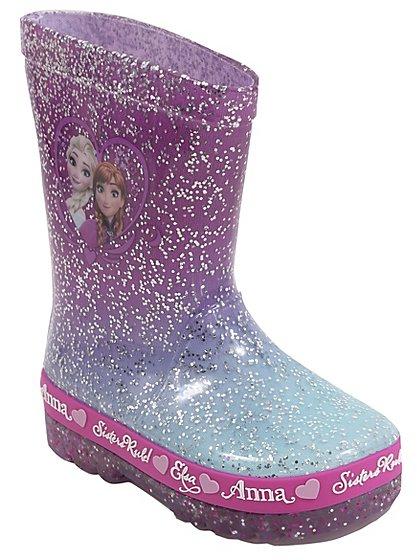 Disney Frozen Light Up Wellington Boots Kids George At