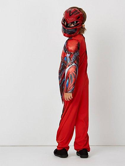 Power Rangers Red Ranger Fancy Dress Costume | Kids | George at ASDA