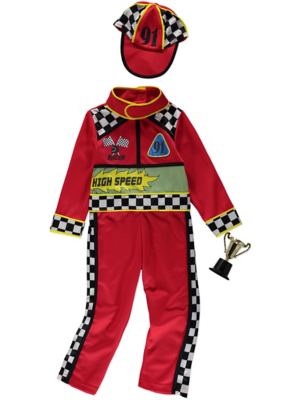 sc 1 st  George - Asda & Race Car Driver Fancy Dress Costume | Kids | George at ASDA