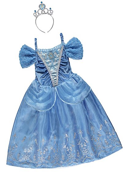 Disney Princess Cinderella Fancy Dress Costume Kids