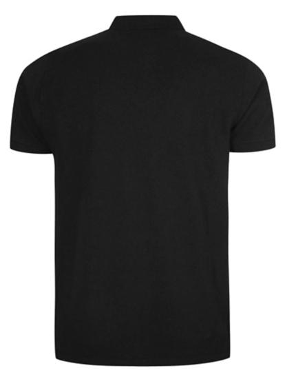 basic pique longline polo shirt black men george at asda