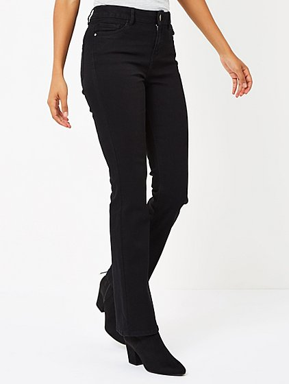 Slim Bootcut Jeans - Black | Women | George at ASDA
