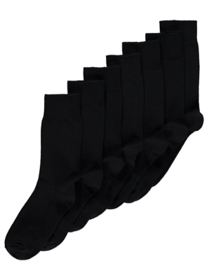 Black Socks 7 Pack