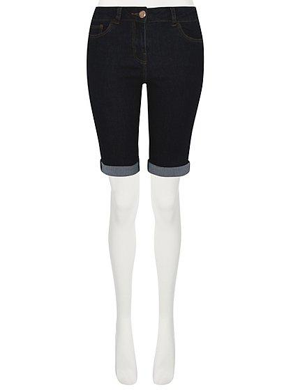 Knee Length Denim Shorts | Women | George at ASDA