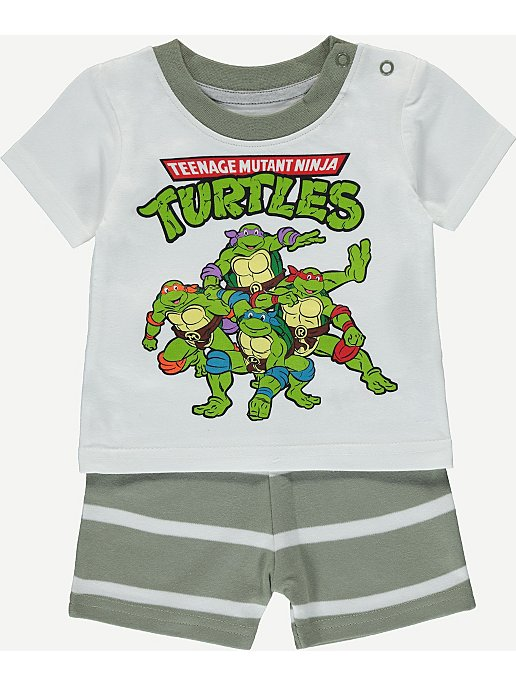 79e378a86 Teenage Mutant Ninja Turtles T-shirt and Shorts Set | Baby | George ...