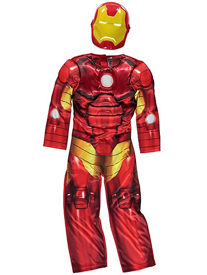 marvel avengers iron man light up fancy dress costume kids george at asda