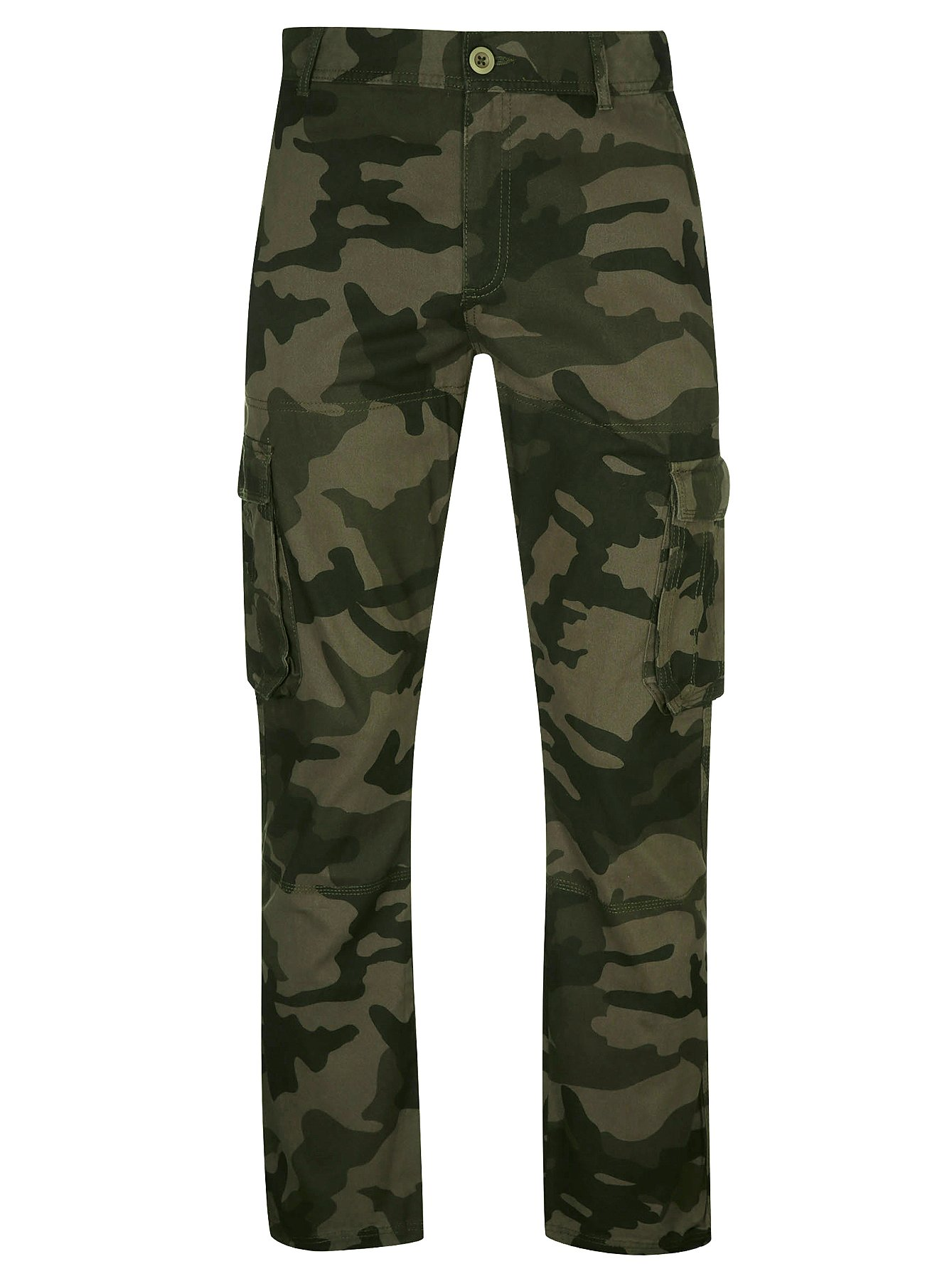 Khaki Camouflage Cargo Trousers | Men | George