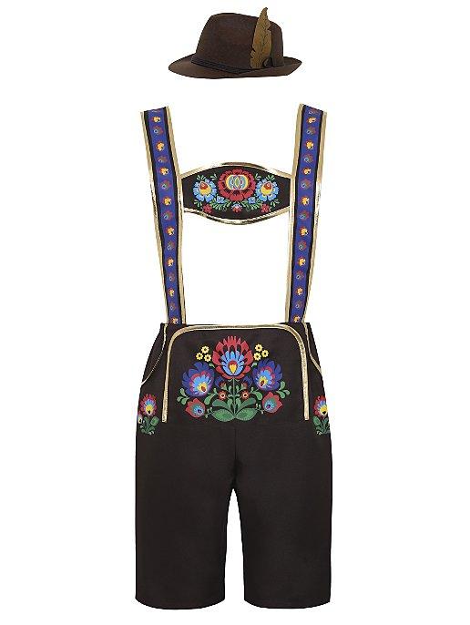 91e979120 Adult Lederhosen Style Fancy Dress Costume