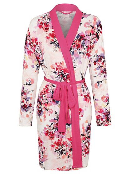 Floral Print Jersey Dressing Gown   Women   George at ASDA