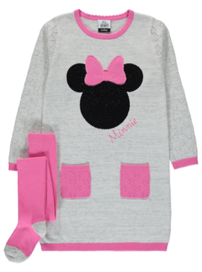 Disney Minnie Mouse Dress and Tights Set | Kids | George at ASDA