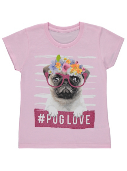 pug shirts for kids floral pug t shirt kids george at asda 2105