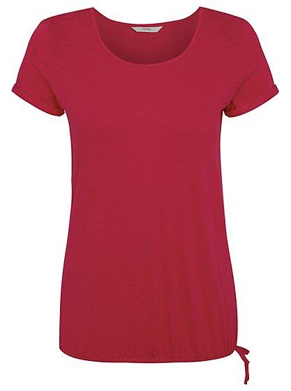 Bubble Hem T- shirt - Pink | Women | George at ASDA