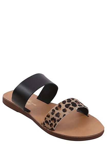 Leopard Print Sandals Women George