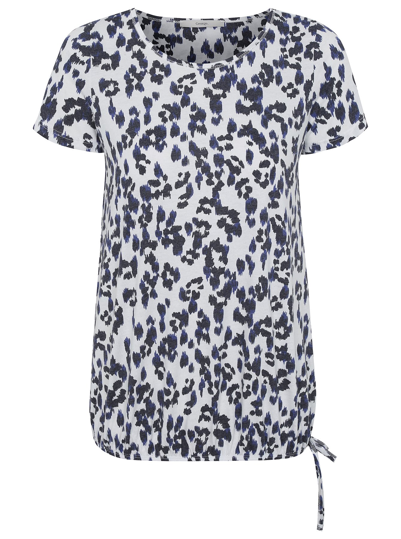 Leopard Print Bubble Hem Top | Women | George at ASDA