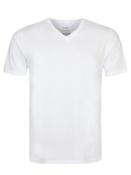 c6d3d7f8370 White V-neck T-Shirt. Reset