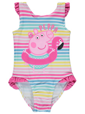 sc 1 st  George - Asda & Peppa Pig Striped Swimsuit | Kids | George