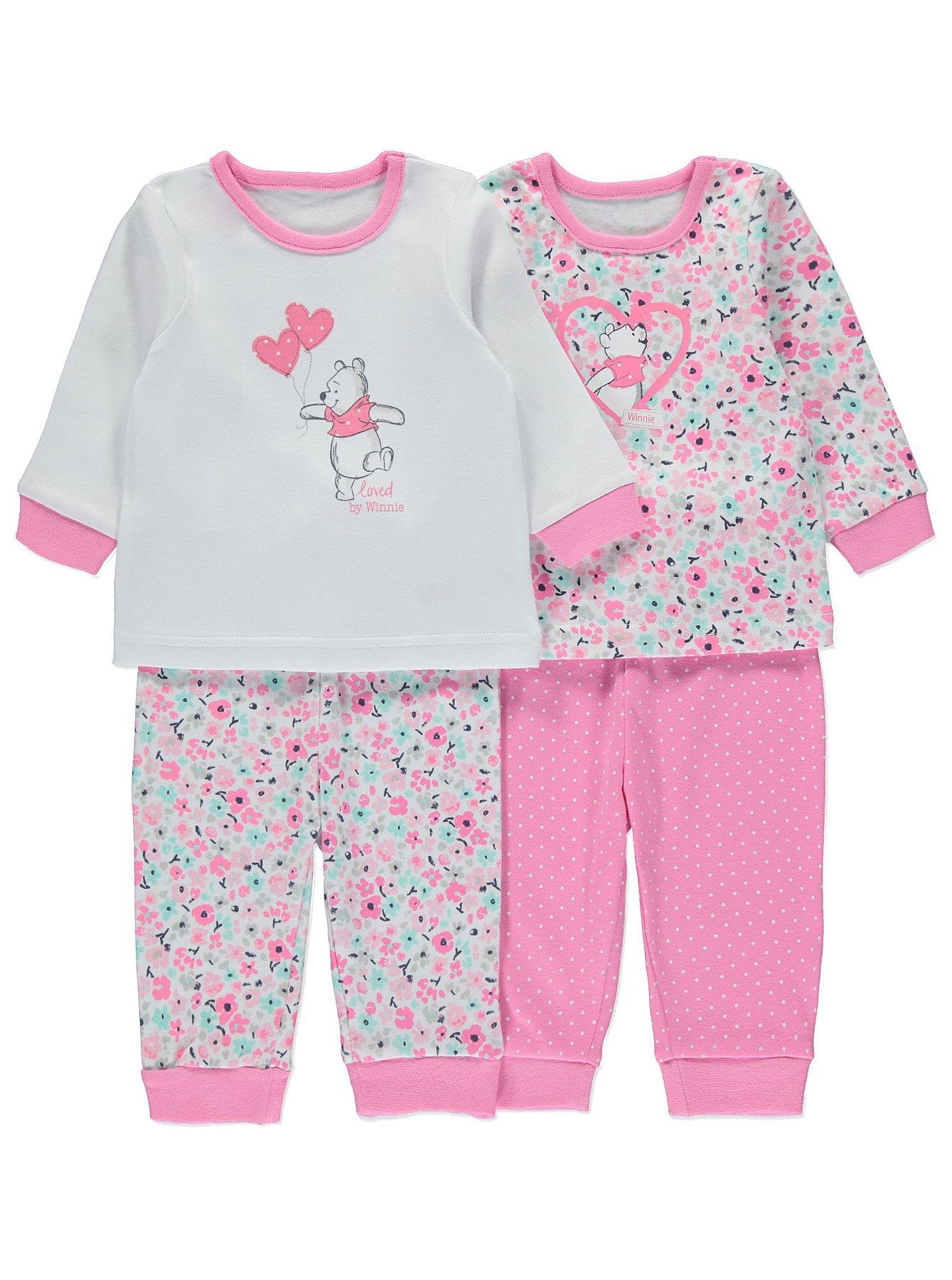 Disney Winnie the Pooh 2 Pack Pyjamas   Baby   George