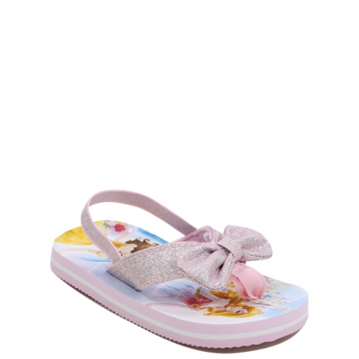 George Disney Princess Glitter Bow Flip Flops - Pink.