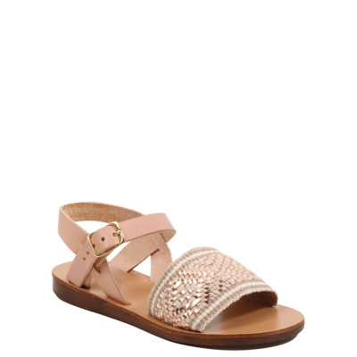 George Leather Braided Sandals - Pink.