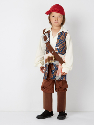 Disney Pirates of the Caribbean Jack Sparrow Fancy Dress Costume | Kids | George  sc 1 st  George - Asda.com & Disney Pirates of the Caribbean Jack Sparrow Fancy Dress Costume ...