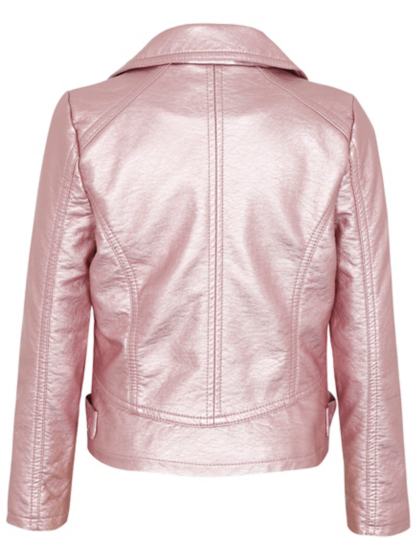 Metallic Biker Jacket | Kids | George at ASDA