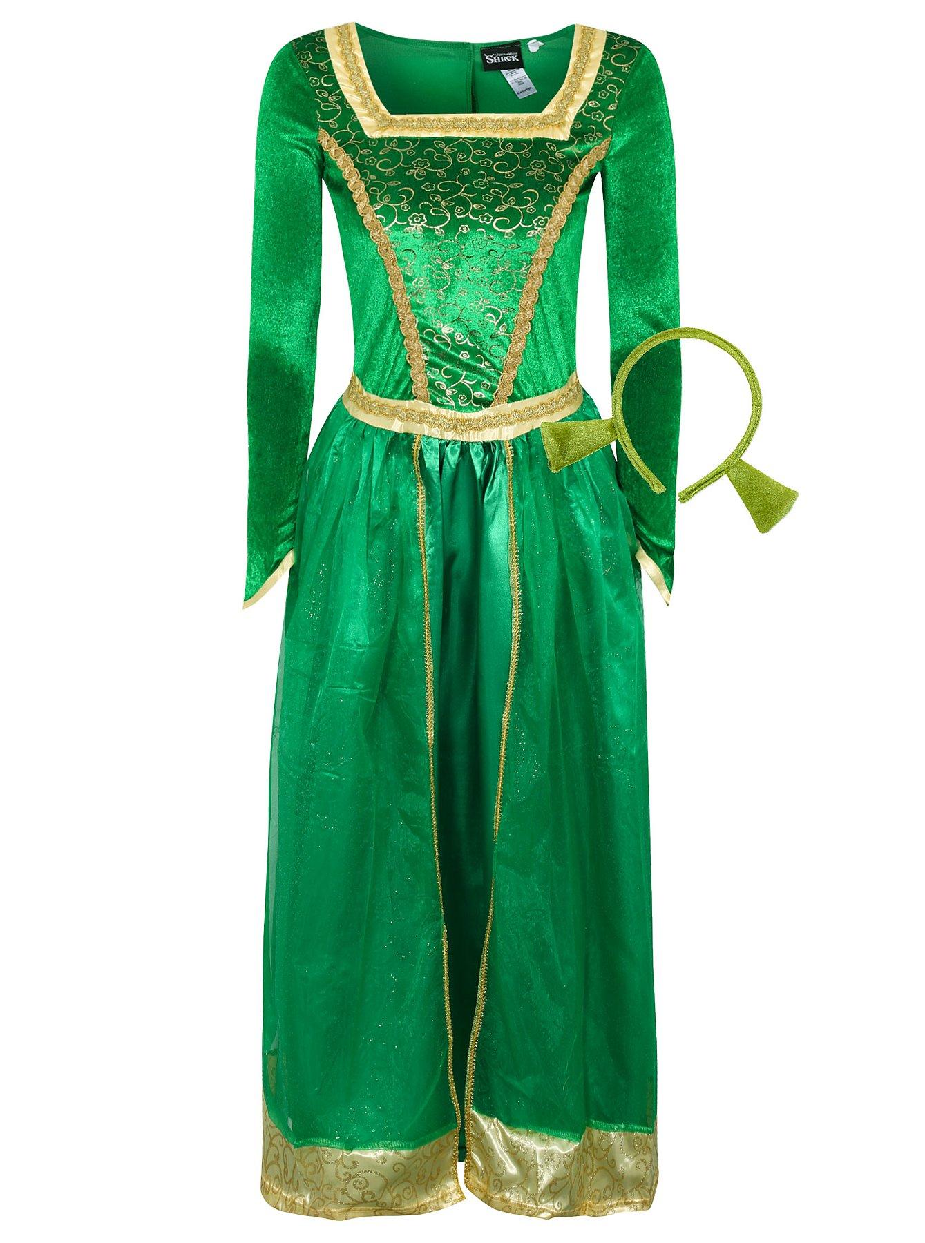 Ladies leather gloves asda - Adult Princess Fiona Shrek Fancy Dress Costume