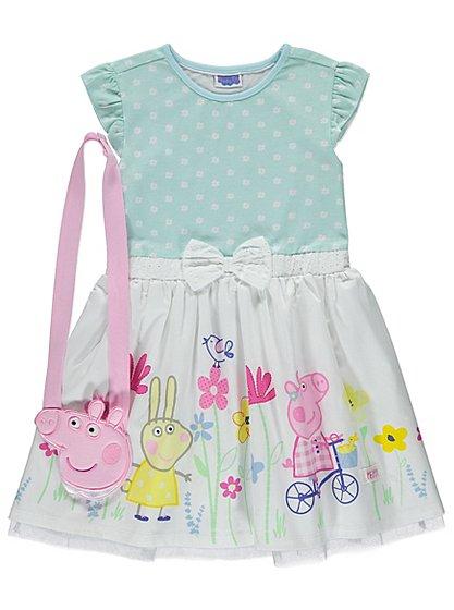Peppa Pig Dress and Bag Set   Kids   George