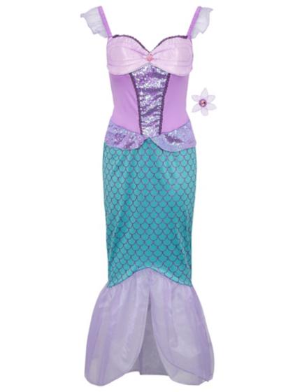 Disney The Little Mermaid Adult Fancy Dress Costume | Women | George